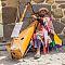 Blind musiker ved Ollantaytambo