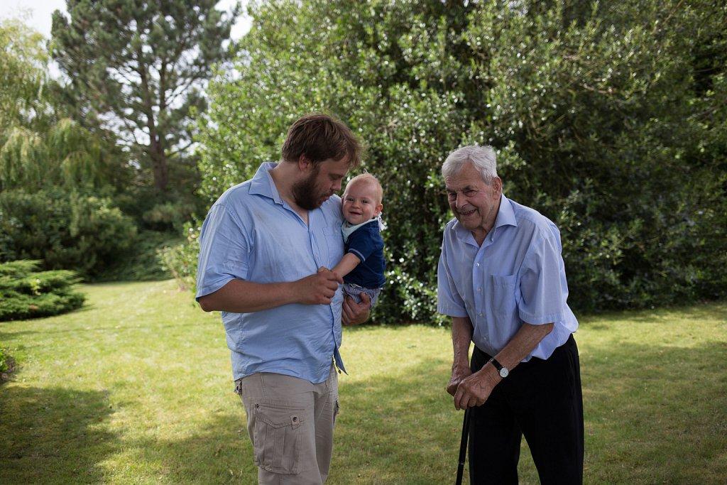 Johan, Kristian og Farfar